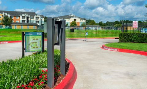 Gated Community | Call Box for Residents | Houston Apartments For Rent | Cambria Cove