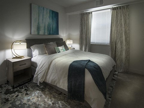 Transitional Master Carpeted Bedroom at Pinyon Pointe, Colorado