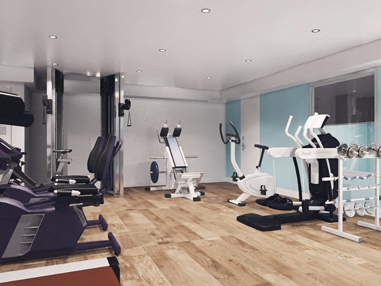 Modern Fitness Center at Point Bonita, Chula Vista, California