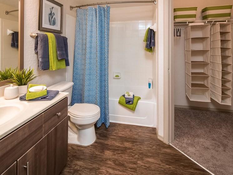 Master Bath & Walk-in Closet at The Terraces at Lake Mary, Florida, 32746