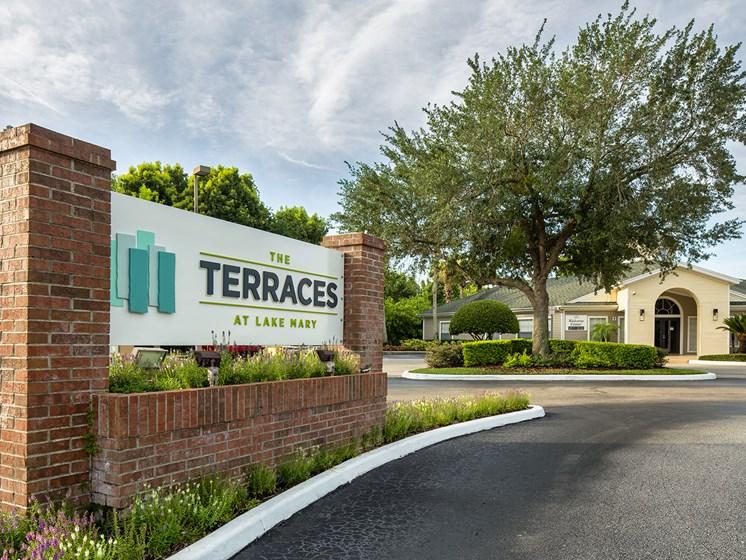 Entrance at The Terraces at Lake Mary, Lake Mary, FL