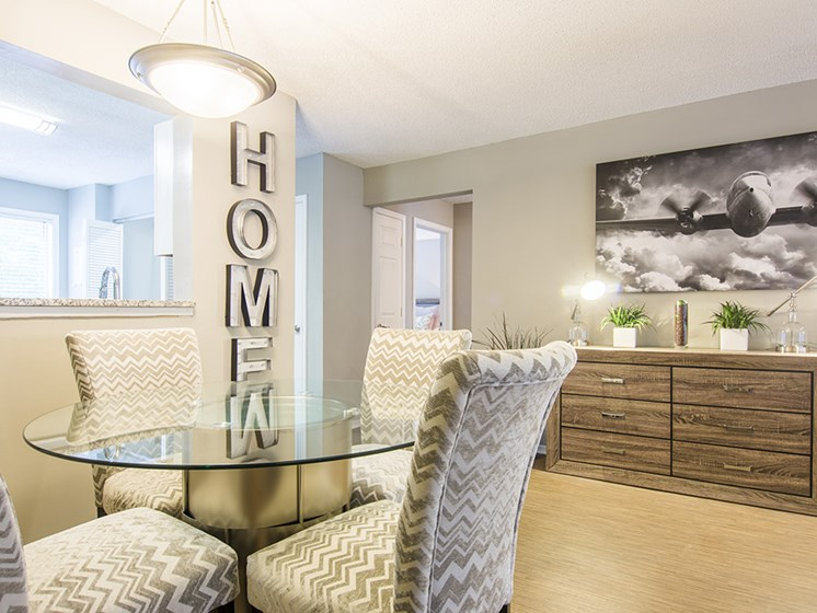Dining Room at The Addison at Sandy Springs Apartment Homes, Sandy Springs