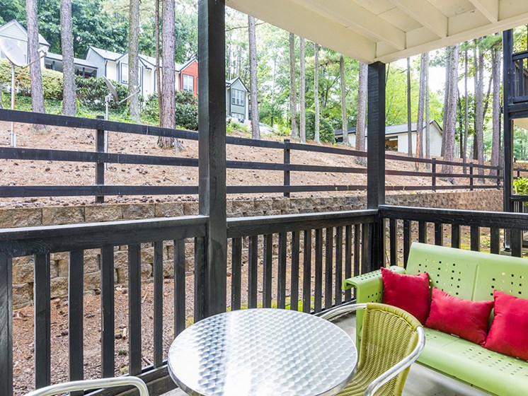 Patio at The Addison at Sandy Springs Apartment Homes, Sandy Springs, GA, 30350