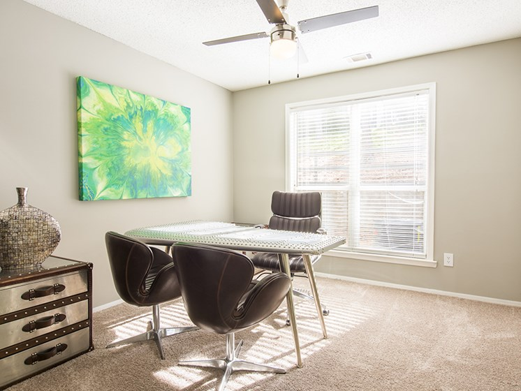 Home Office at The Addison at Sandy Springs Apartment Homes, Sandy Springs, Georgia