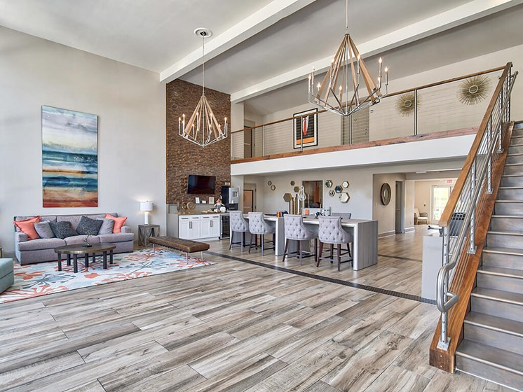 Decorated Reception And Lobby Area at The Brookwood Apartment Homes, Homewood, AL, 35209