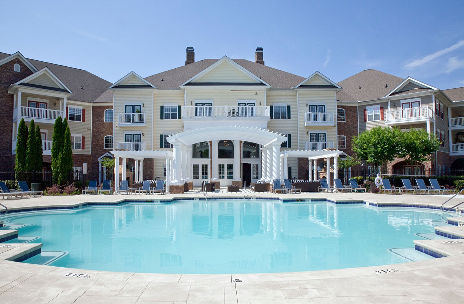 Community Clubhouse With Swimming Pool at The Estates at Johns Creek, Georgia