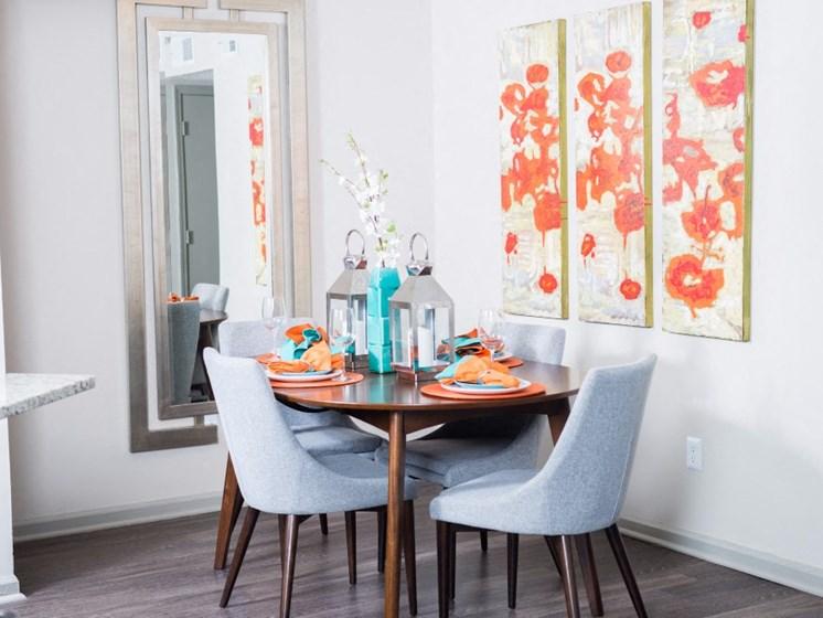 Dining Room With Wood-Style Flooring at Uptown Buckhead, Atlanta, GA