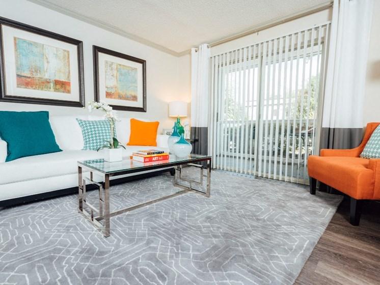 Living Room With Door To Patio / Balcony at Uptown Buckhead, Atlanta, 30342
