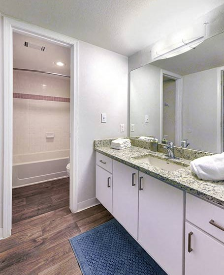 Bathroom Vanity And Walk In Closet at Verdant Apartment Homes, Boulder, CO, 80303
