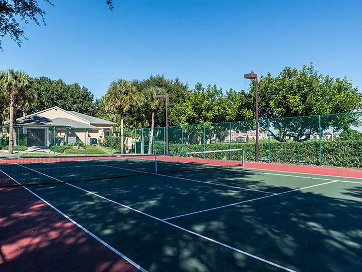 Lighted Tennis Court at Winthrop West Apartment Homes, Riverview, 33578