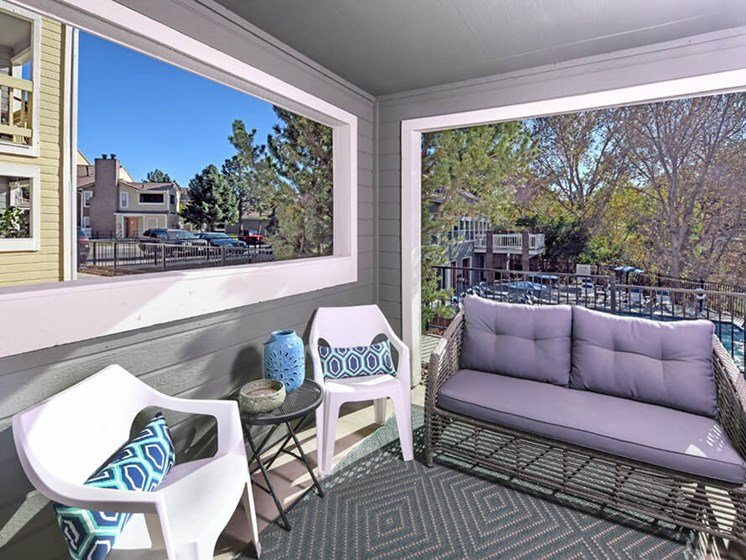 Screened Balcony at Arcadia Apartment Homes, Centennial, Colorado