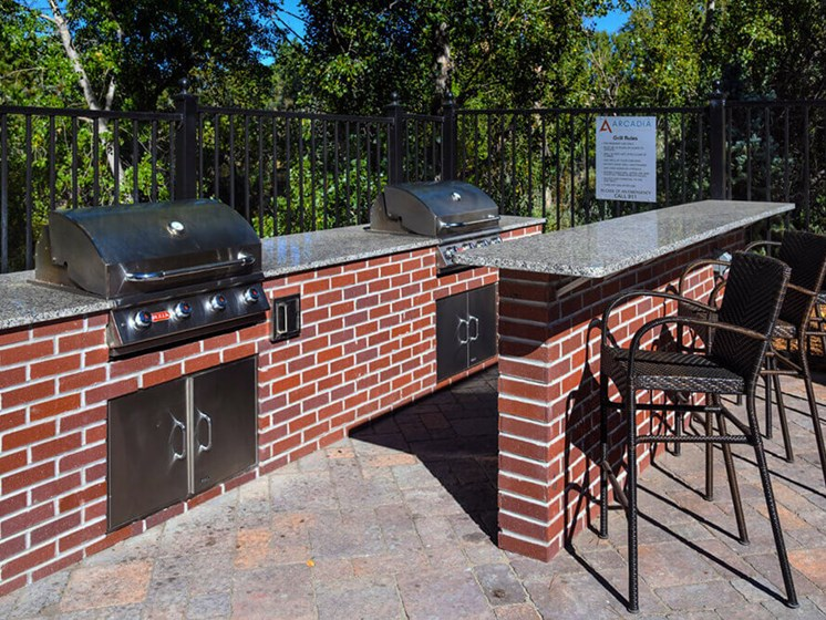 Enjoy Brunch With Friends At Our Grilling Station at Arcadia Apartment Homes, Centennial, CO