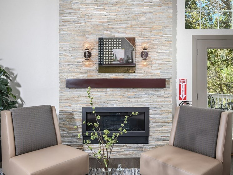 Lounge Area With Fireplace at Arcadia Apartment Homes, Centennial, CO, 80112