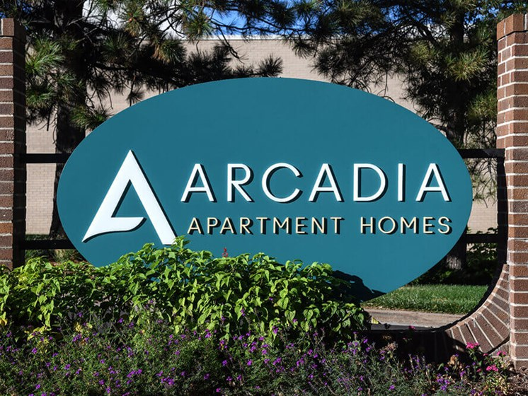 Property Signage at Arcadia Apartment Homes, Colorado, 80112