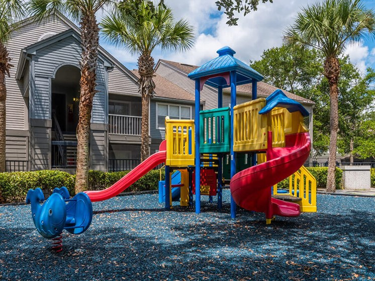 On Site Children's Playground at Bay Club Apartments, Jacksonville, Florida