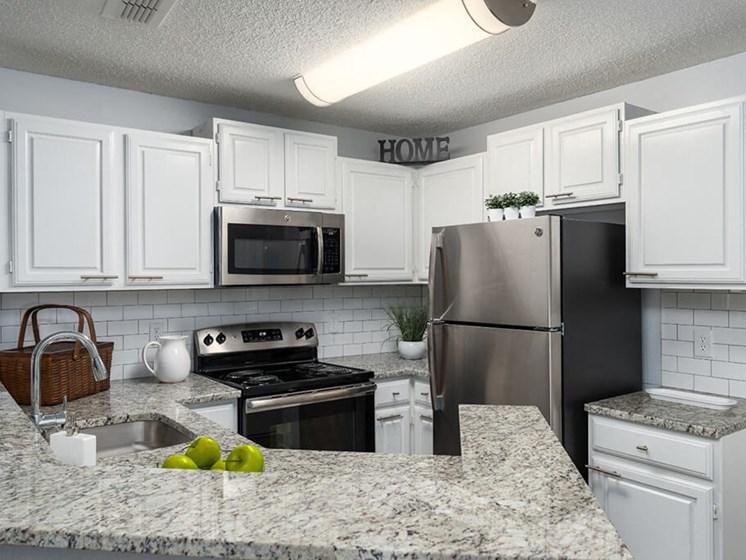 Granite Inspired Countertops at Bay Club Apartments, Florida