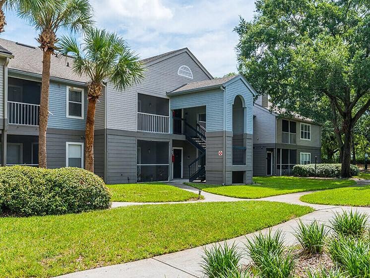 Lush Landscaping at Bay Club Apartments, Florida