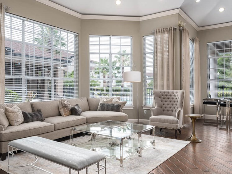 Bay Windows In Clubroom at Courtney Meadows, Jacksonville