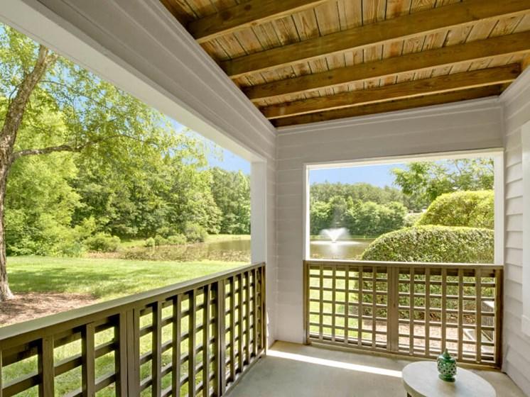 Outdoor Patio with Panoramic Lake Views at Crosstown at Chapel Hill, North Carolina, 27517