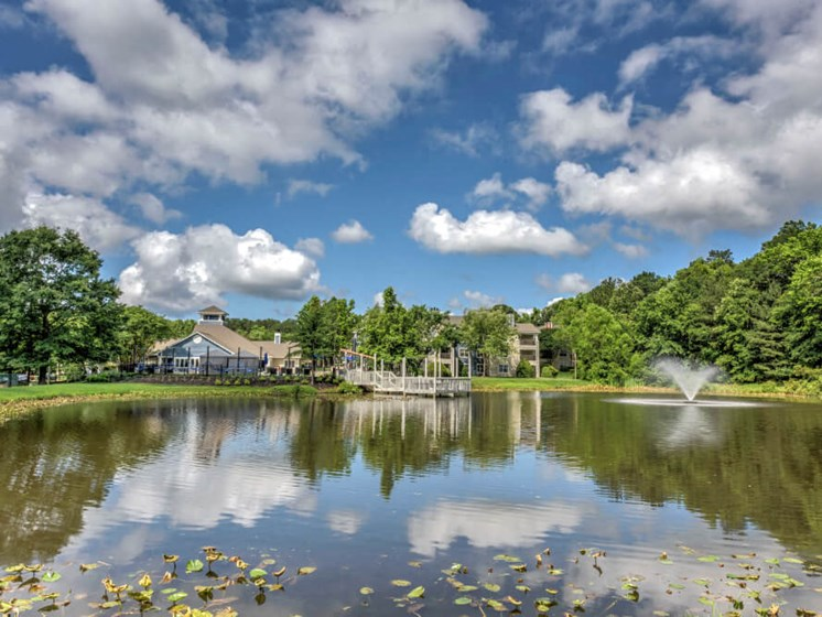 Beautiful Lake with Fountain at Crosstown at Chapel Hill, Chapel Hill, 27517