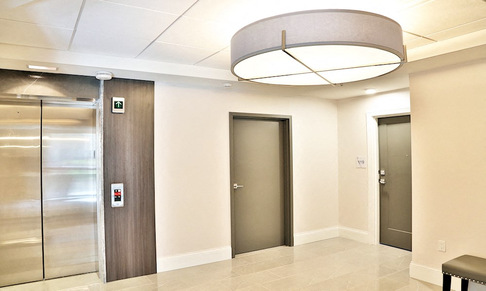 The elevator for seniors living at The James Ferndale
