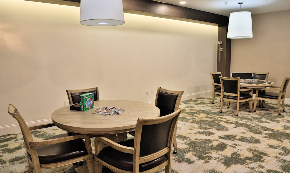 The game room for seniors at The Jame Ferndale