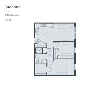 Floor plan of The Arbor at The James Ferndale senior living apartments