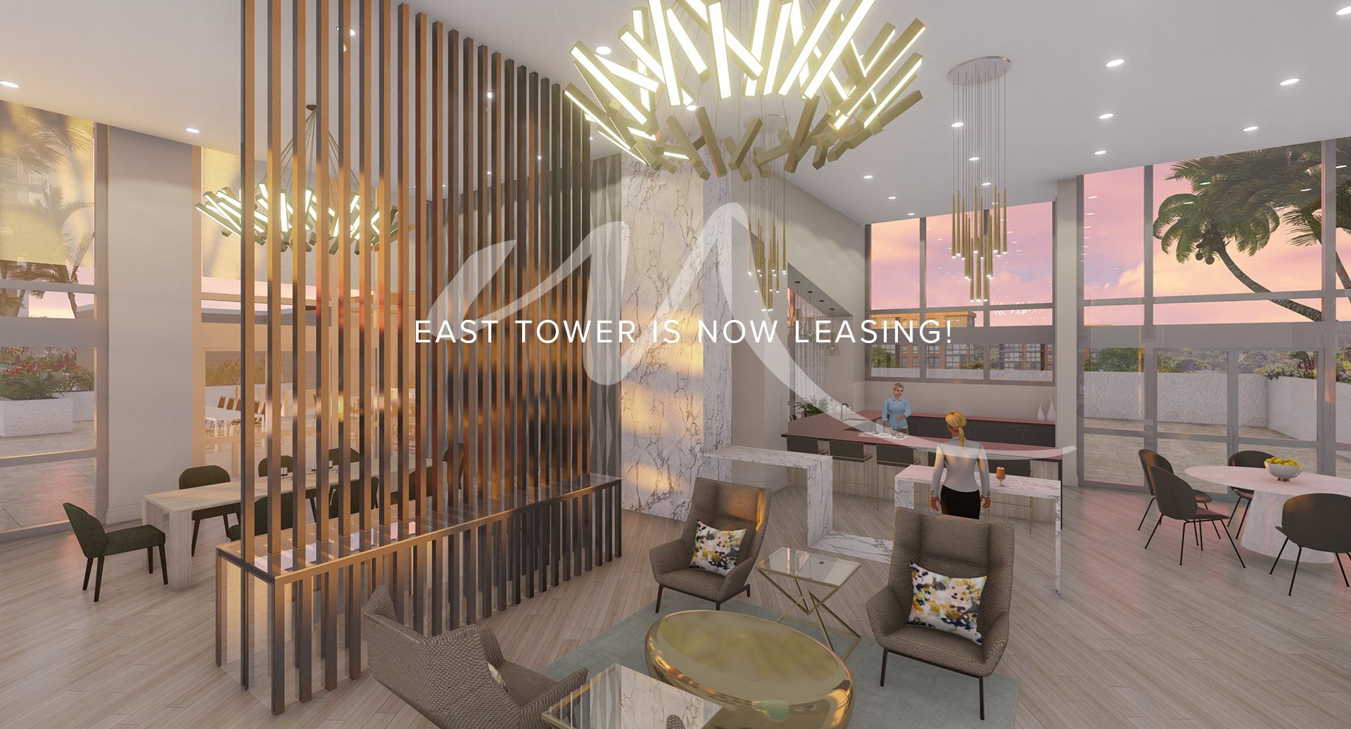 East tower homes are now leasing - rendering