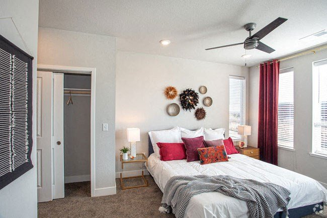 Large Comfortable Bedrooms With Closet at Revolve at OneFifteen, Overland Park
