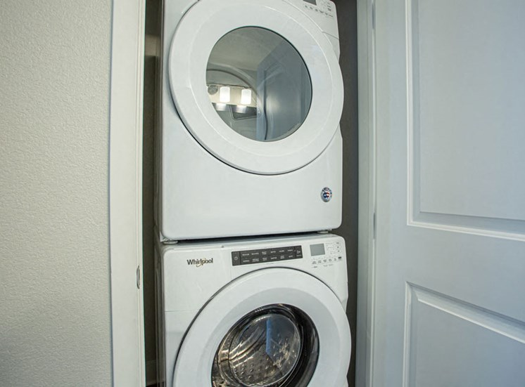 Full size Stack-able Front-loading Washer And Dryer at Revolve at OneFifteen, Kansas