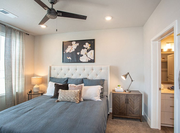 Spacious Bedroom With Comfortable Bed at Revolve at OneFifteen, Overland Park, 66211