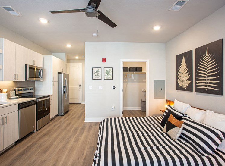Large Studio Suite Floor Plan at Revolve at OneFifteen, Overland Park, KS, 66211