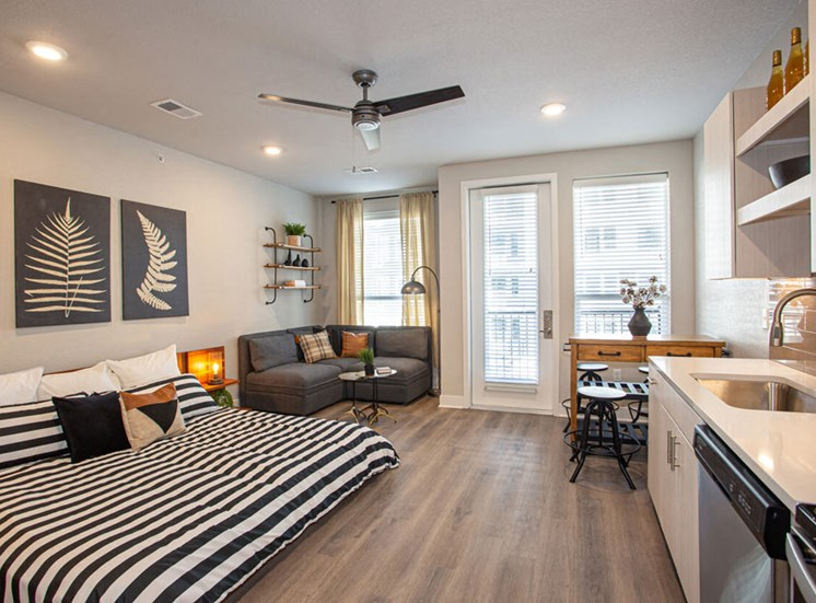 Studio Apartment For Rent at Revolve at OneFifteen, Overland Park, 66211