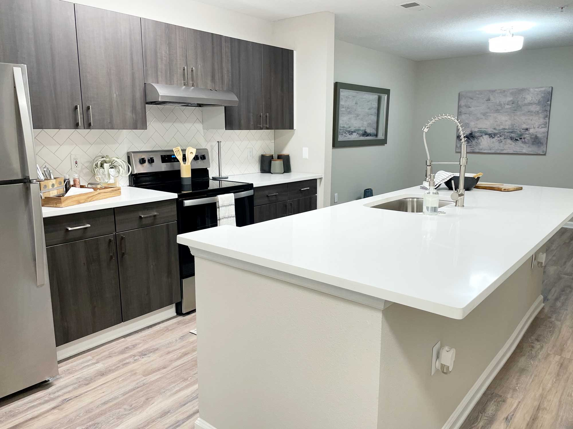 Newly Renovated Kitchen - Rocky Creek Apartments