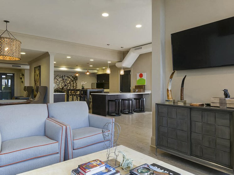 Luxurious Clubhouse With Television at 101 Park Place, Connecticut, 6902