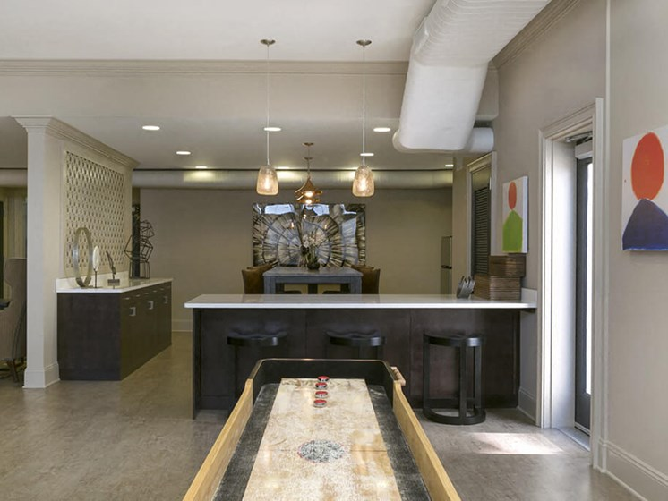 Modern Clubhouse With A Game Room at 101 Park Place, Stamford, CT