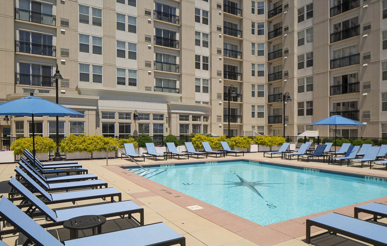 Sparkling Outdoor Swimming Pool at 101 Park Place, Connecticut