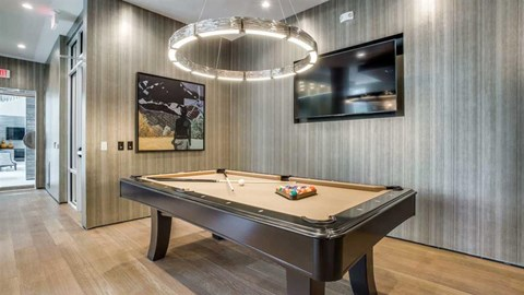 Richardson, apartments in Richardson, pool table, game room, club room