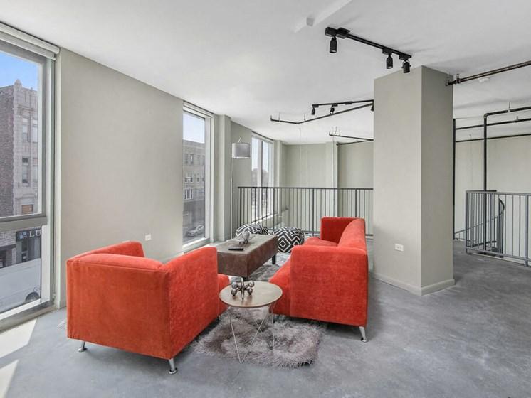 2 Bed + Loft - Upper Living Room