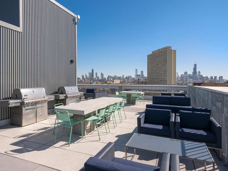 Rooftop with Grilling Stations