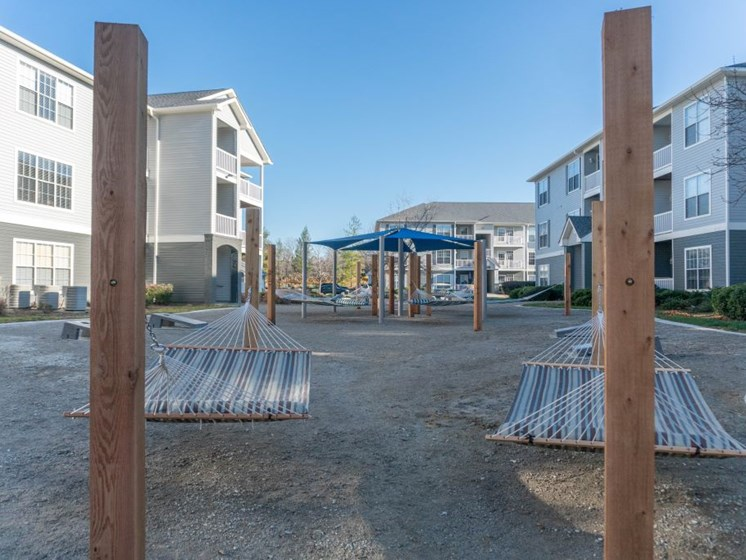 Hammock Garden with Multiple Hammocks to Enjoy Relaxing with Friends and Family at The Shallowford Apartment Homes, Chattanooga, TN 37421