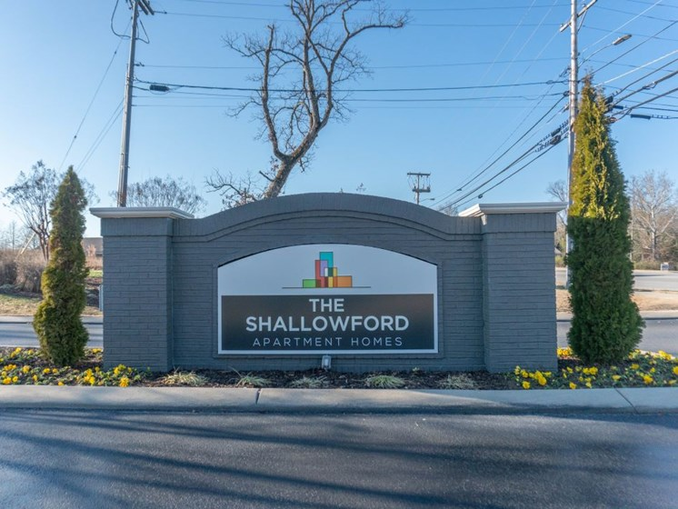 The Shallowford Apartments Signage