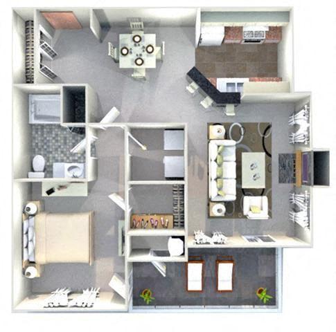 CAROLINA Floor Plan at Crestmont at Thornblade, South Carolina, 29615