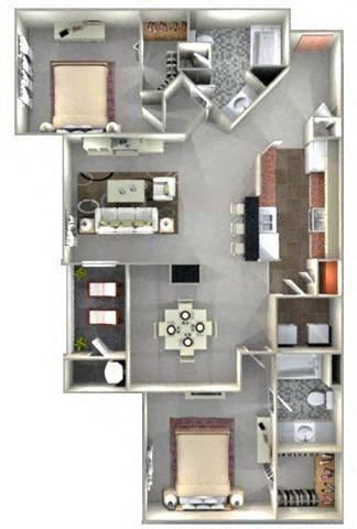 GALLERIA Floor Plan at Crestmont at Thornblade, Greenville, SC