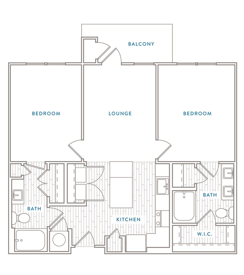 Two Bedroom Two Bath Floor Plan Capital Club at Indian Land
