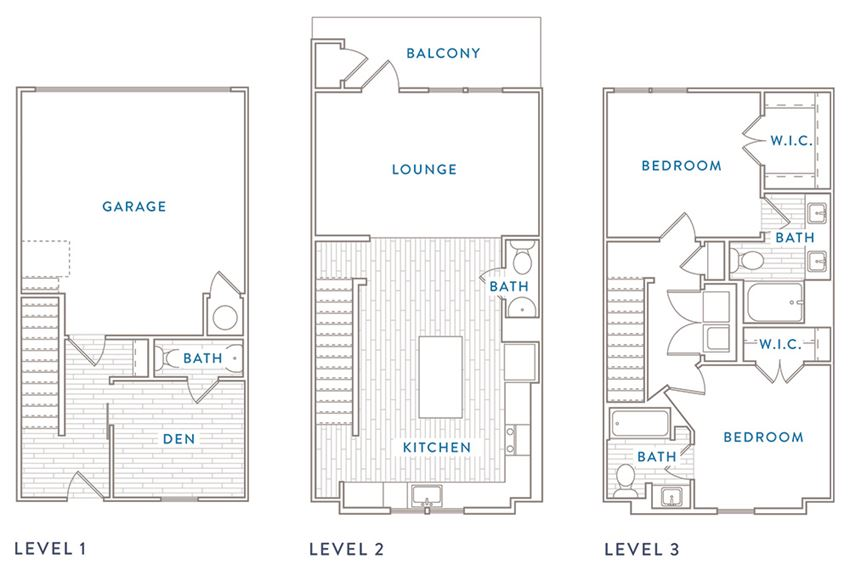 Two Bedroom Two Bath 2 half bath with Den Capital Club at Indian Landing