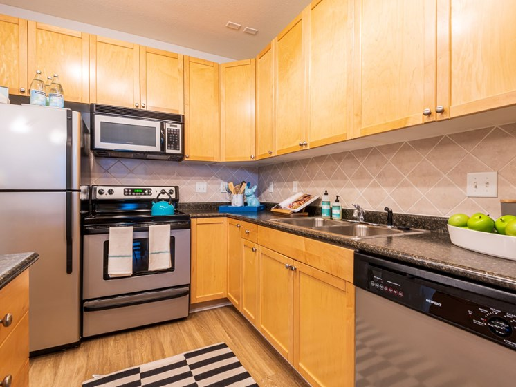 Fully-Equipped Kitchens at Oberlin Court, Raleigh, North Carolina