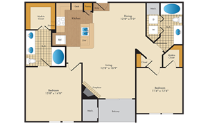 A picture of the B1/B1R floorplan.