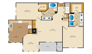 A picture of the B8/B8R floorplan.