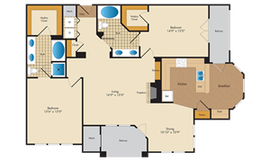 A picture of the B9/B9R floorplan.